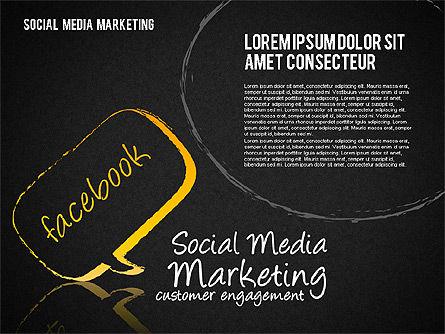 Social Media Marketing Shapes, Slide 12, 01570, Shapes — PoweredTemplate.com