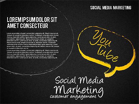 Social Media Marketing Shapes, Slide 13, 01570, Shapes — PoweredTemplate.com