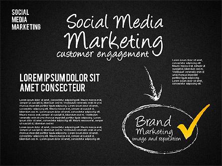 Social Media Marketing Shapes, Slide 14, 01570, Shapes — PoweredTemplate.com