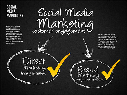 Social Media Marketing Shapes, Slide 15, 01570, Shapes — PoweredTemplate.com