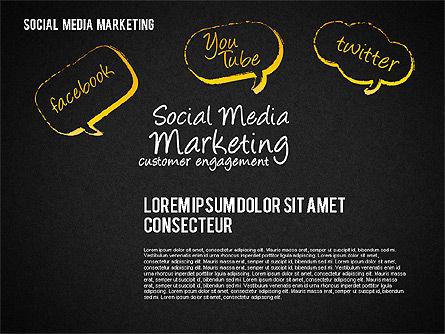 Social Media Marketing Shapes, Slide 16, 01570, Shapes — PoweredTemplate.com