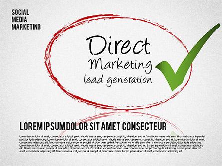 Social Media Marketing Shapes Slide 2