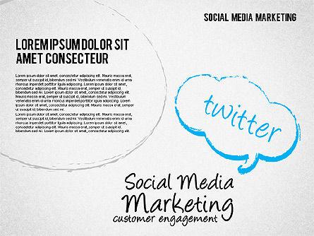 Social Media Marketing Shapes Slide 3