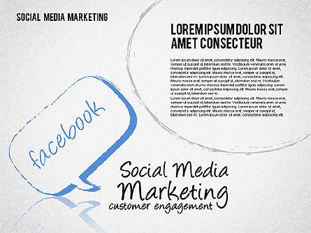 Social Media Marketing Shapes Slide 4