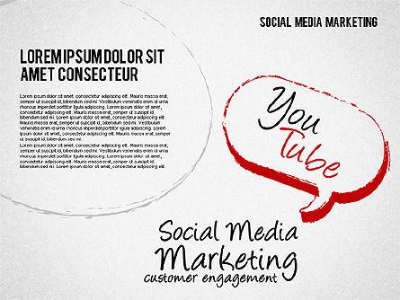 Social Media Marketing Shapes, Slide 5, 01570, Shapes — PoweredTemplate.com