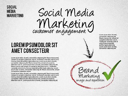 Social Media Marketing Shapes, Slide 6, 01570, Shapes — PoweredTemplate.com