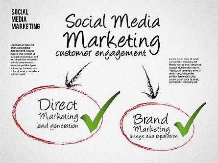 Social Media Marketing Shapes, Slide 7, 01570, Shapes — PoweredTemplate.com
