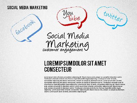 Social Media Marketing Shapes, Slide 8, 01570, Shapes — PoweredTemplate.com