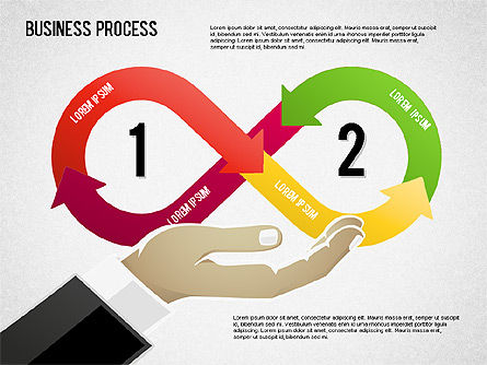 Business Process Shapes, 01572, Process Diagrams — PoweredTemplate.com