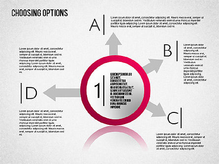 Options and Directions Toolbox, 01573, Shapes — PoweredTemplate.com