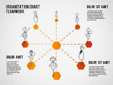 Teamwork Org Chart, Slide 3, 01575, Organizational Charts — PoweredTemplate.com