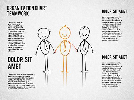 Teamwork Org Chart, Slide 4, 01575, Organizational Charts — PoweredTemplate.com