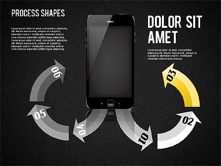Arrows Toolbox, Slide 11, 01576, Shapes — PoweredTemplate.com