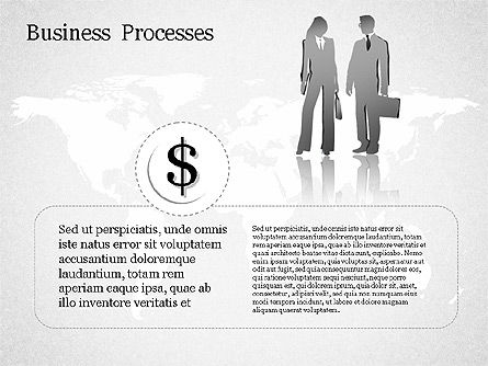 Process Arrow with Numbers, Slide 2, 01578, Process Diagrams — PoweredTemplate.com