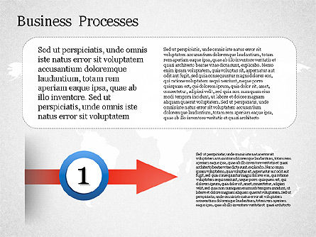 Process Arrow with Numbers, Slide 3, 01578, Process Diagrams — PoweredTemplate.com
