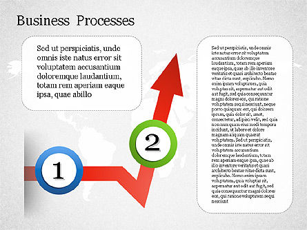 Process Arrow with Numbers, Slide 4, 01578, Process Diagrams — PoweredTemplate.com