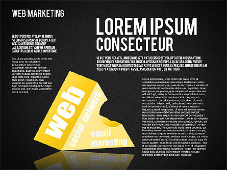 Web Marketing Diagram, Slide 10, 01581, Business Models — PoweredTemplate.com