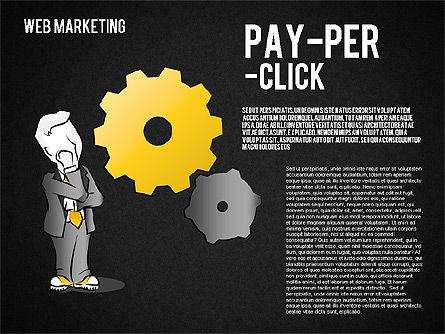 Web Marketing Diagram, Slide 12, 01581, Business Models — PoweredTemplate.com