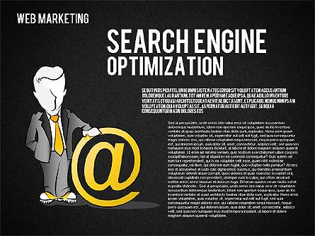 Web Marketing Diagram, Slide 13, 01581, Business Models — PoweredTemplate.com