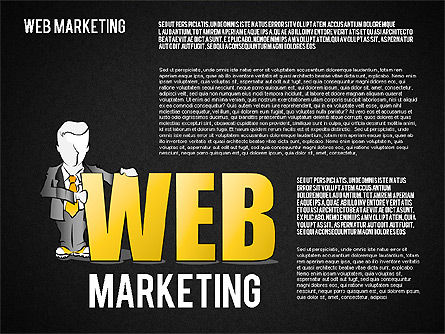 Web Marketing Diagram, Slide 14, 01581, Business Models — PoweredTemplate.com