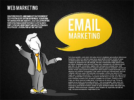 Web Marketing Diagram, Slide 15, 01581, Business Models — PoweredTemplate.com