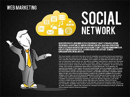 Web Marketing Diagram, Slide 16, 01581, Business Models — PoweredTemplate.com
