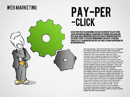 Web Marketing Diagram, Slide 4, 01581, Business Models — PoweredTemplate.com