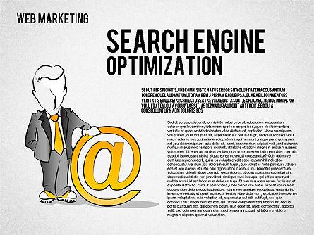 Web Marketing Diagram, Slide 5, 01581, Business Models — PoweredTemplate.com