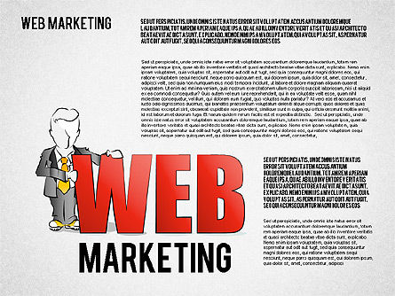 Web Marketing Diagram, Slide 6, 01581, Business Models — PoweredTemplate.com