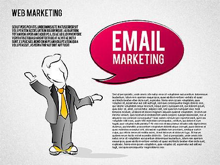 Web Marketing Diagram, Slide 7, 01581, Business Models — PoweredTemplate.com