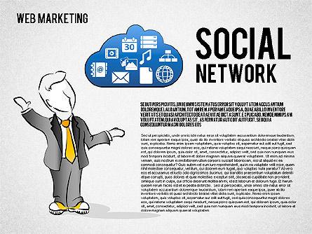 Web Marketing Diagram, Slide 8, 01581, Business Models — PoweredTemplate.com