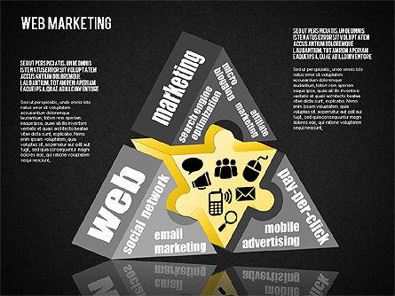 Web Marketing Diagram, Slide 9, 01581, Business Models — PoweredTemplate.com