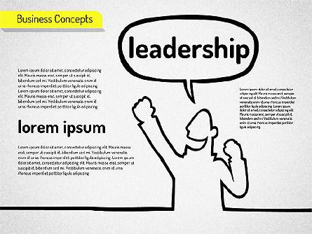 Idea Development Shapes, Slide 4, 01582, Business Models — PoweredTemplate.com