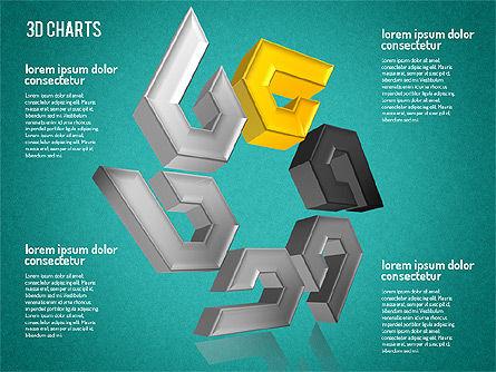 Free 3D Pattern Shapes, Slide 10, 01587, Shapes — PoweredTemplate.com