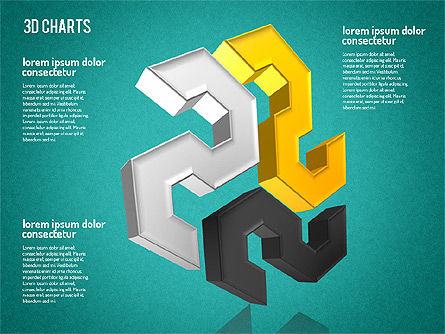 Free 3D Pattern Shapes, Slide 11, 01587, Shapes — PoweredTemplate.com