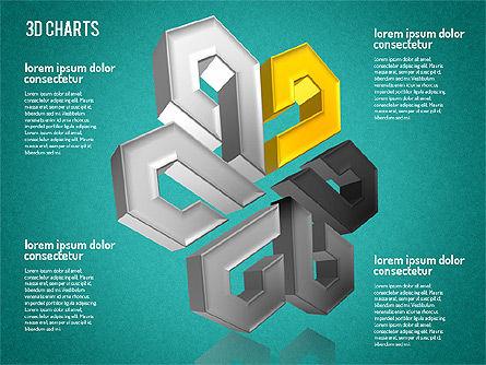 Free 3D Pattern Shapes, Slide 13, 01587, Shapes — PoweredTemplate.com