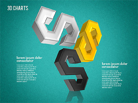 Free 3D Pattern Shapes, Slide 14, 01587, Shapes — PoweredTemplate.com