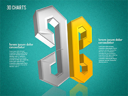Free 3D Pattern Shapes, Slide 16, 01587, Shapes — PoweredTemplate.com