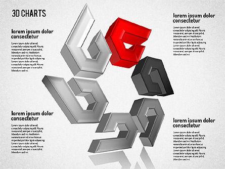 Free 3D Pattern Shapes, Slide 2, 01587, Shapes — PoweredTemplate.com