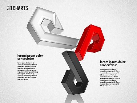 Free 3D Pattern Shapes, Slide 4, 01587, Shapes — PoweredTemplate.com