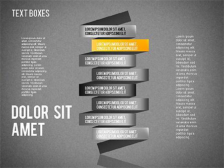 Origami Style Tape, Slide 13, 01588, Shapes — PoweredTemplate.com