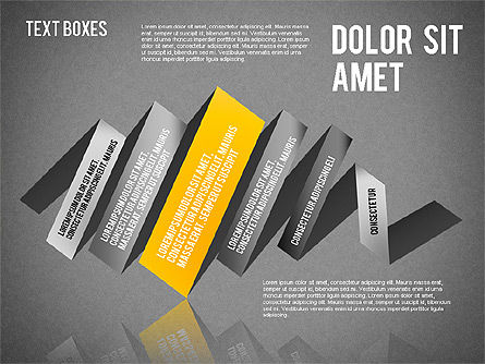 Origami Style Tape, Slide 14, 01588, Shapes — PoweredTemplate.com