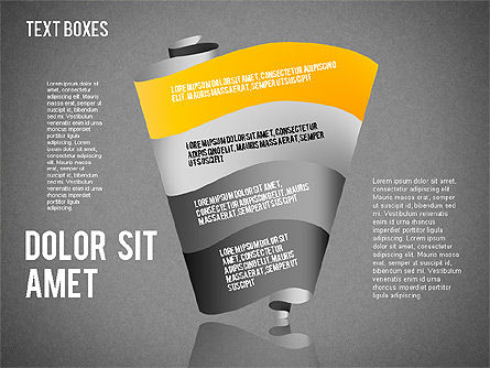 Origami Style Tape, Slide 16, 01588, Shapes — PoweredTemplate.com