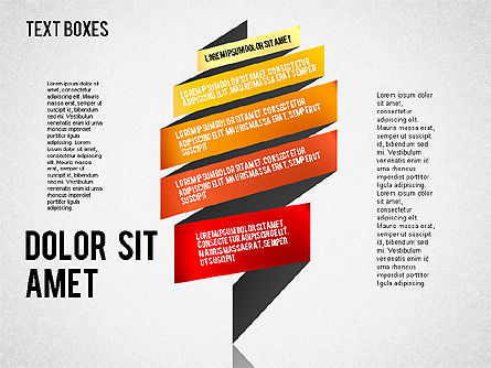 Origami Style Tape, Slide 2, 01588, Shapes — PoweredTemplate.com