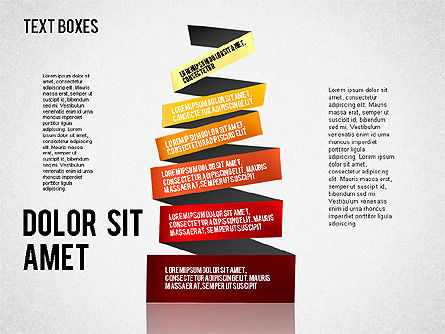 Origami Style Tape, Slide 3, 01588, Shapes — PoweredTemplate.com