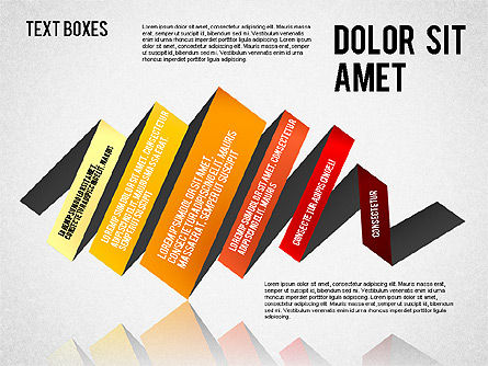 Origami Style Tape, Slide 6, 01588, Shapes — PoweredTemplate.com