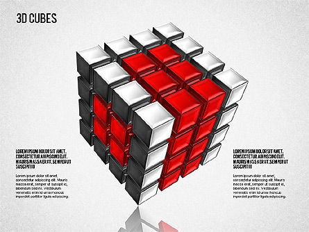 Complex 3D Cubes, 01592, Business Models — PoweredTemplate.com