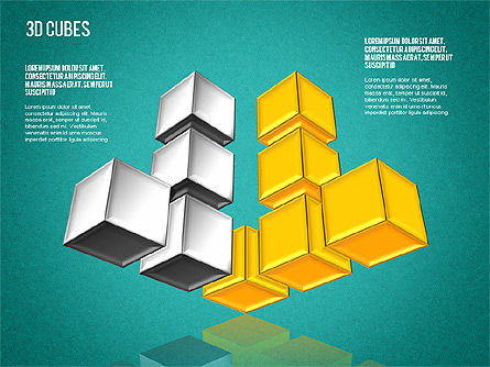Complex 3D Cubes, Slide 10, 01592, Business Models — PoweredTemplate.com