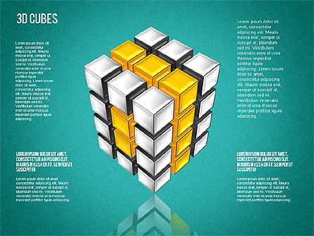 Complex 3D Cubes, Slide 11, 01592, Business Models — PoweredTemplate.com