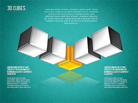 Complex 3D Cubes, Slide 13, 01592, Business Models — PoweredTemplate.com
